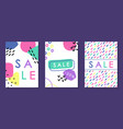collection of hand drawn sale promotion templates vector image
