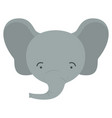 colorful caricature cute face of male elephant vector image vector image