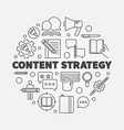 content strategy round concept line vector image