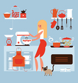 cooking at home vector image