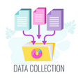 data collection icon market research flat vector image vector image