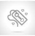 Declaration of love label flat line icon vector image
