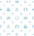 dj icons pattern seamless white background vector image vector image
