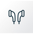 earmuff outline symbol premium quality isolated vector image vector image
