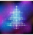 Electronic shining purple and blue christmas tree vector image