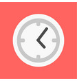 flat clock icon time flat vector image vector image