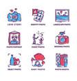 flat set of original photography logos vector image vector image