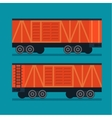 Freight train Cargo transportation logistic vector image vector image
