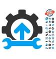 Gear Integration Tools Icon With Free Bonus vector image vector image