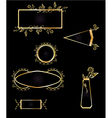 Gold and black frame element set vector image vector image
