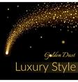 Golden sparkling falling star 1 vector image vector image