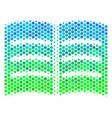 halftone blue-green open book icon vector image vector image