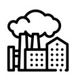 harmful substances stations above houses icon vector image vector image
