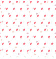 heart seamless pattern love valentine day mother vector image vector image