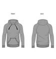 hoodie template mock up hooded sweatshirt vector image vector image