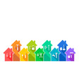 house and related work tool icon set vector image vector image
