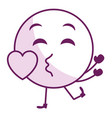 in love face emoticon kawaii character vector image vector image
