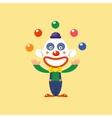 Joyful Clown Juggling vector image vector image