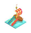 kids water attraction isometric 3d element vector image