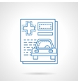 Medical car insurance flat line icon vector image vector image