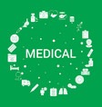medical icon set infographic template vector image vector image