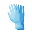 medical rubber gloves first aid kit equipment vector image