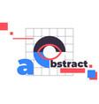 minimal geometric web banner design vector image vector image