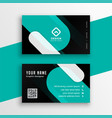 modern turquoise and black business card template vector image vector image