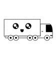 monochromatic truck sticker vector image