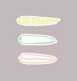 one line art style corn abstract creative food vector image vector image