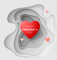 paper art concept of valentines day february 14 vector image