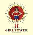poster girl power with strong independant woman vector image vector image
