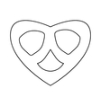 Pretzel icon in outline style vector image vector image