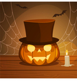 Pumpkin With Hat vector image vector image