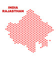 rajasthan state map - mosaic of valentine hearts vector image vector image