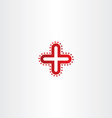 red logo medical cross icon vector image vector image