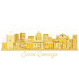 santo domingo dominican republic city skyline vector image vector image