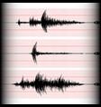 seismogram writing vector image vector image