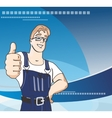 Service man vector image