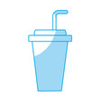 silhouette yummy and refreshment soda to drink vector image vector image