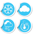 snow icons set vector image vector image