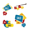 Special offer sale tag discount isolated on white vector image vector image