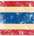 Thailand retro flag vector image