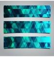 three geometric banners vector image