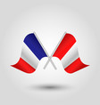 two crossed french and peruvian flags vector image vector image