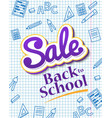 vertical poster sale back to school dynamic vector image vector image