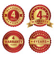 warranty labels 4 years vector image vector image
