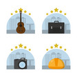 work tools icons vector image