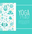 yoga studio business card ayurveda traditional vector image vector image