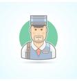 Postman mailman delivery man icon vector image